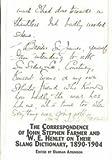 The Correspondence of John Stephen Farmer and W.E. Henley on Their Slang Dictionary, 1890-1904 9780773466128