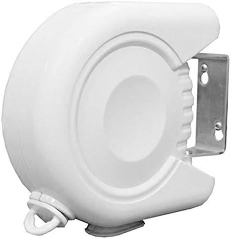 Blanc Basage S/éChoir Une Linge Portatif R/éSistant Une Linge R/éTractable de 12M avec Corde de Corde en PVC R/éGlable