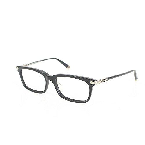 (クロムハーツ) Chrome Hearts 【FUN HATCH-A】サイドCHプラス眼鏡(54□18/ブラック×シルバー) 中古 B07FVT3QN9  -