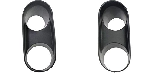 DAT 94 - 04 FORD MUSTANG Cobra Model FOG LAMP BLACK Bezel SET OF TWO LEFT DRIVER RIGHT PASSENGER SIDE PAIR FO2598107 FO2599107 (Cobra Light)