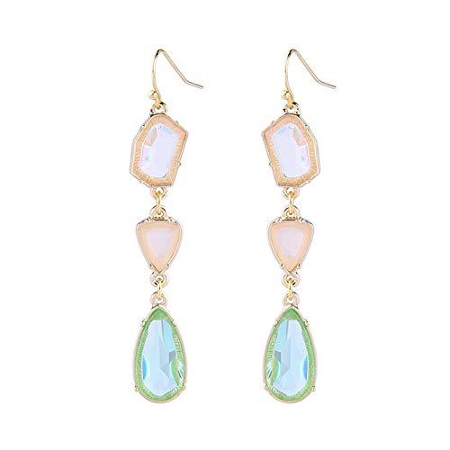 AILUOR Vintage Style Emerald Green Rhinestone Earrings, Fashion Art Deco Antique Wedding Bridal Prom Stud Earrings Hook Chandelier Dangle Earrings Jewelry for Women Girl (Gemstone)