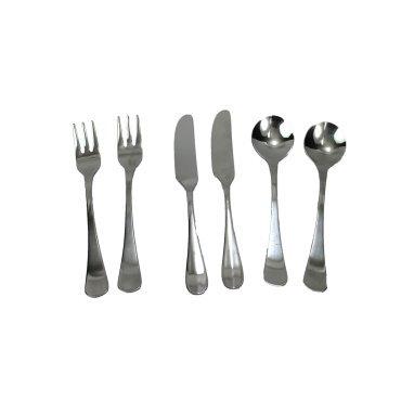 Mini Fork (Kitchen Collection Set of 6 Mini Utensils, 2 Forks - 2 Spoons - 2 Spreaders 08864)