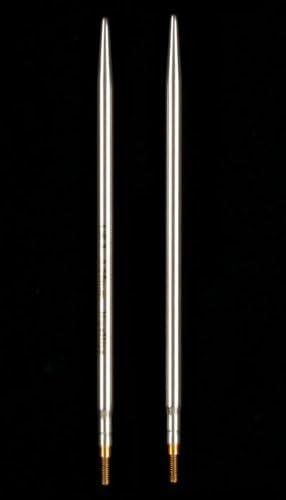 "10cm HiyaHiya 2.75mm x 4/"" Knitting Needles Sharp Steel Interchangeable Tips"