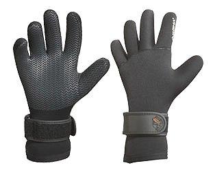5mm Akona Titanium Deluxe Glove w/ Textured Palms and Wrist Gusset Gloves Scuba Dive Diving Diver Snorkel Snorkeling Swim Swimming Surf Surfing Gloves Authorized Dealer Full Warranty, Medium
