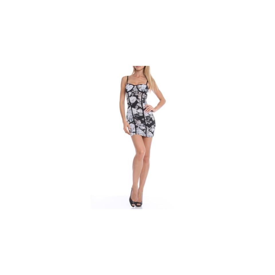 247 Frenzy Womens Spaghetti Strap Floral Print Dress