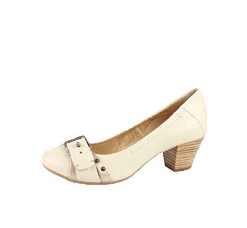 Zapatos de cuero Mjus, blanco.