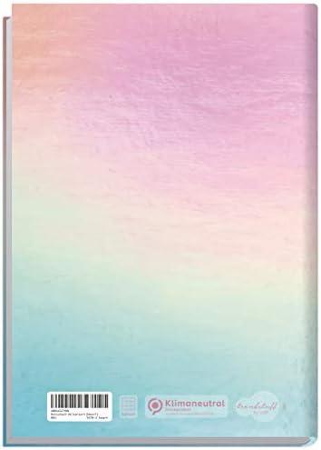 Notizbuch A5 kariert [Heart] von Trendstuff by Häfft | 126 Seiten | Ideal als Tagebuch, Bullet Journal, Ideenbuch, Schreibheft | klimaneutral & nachhaltig