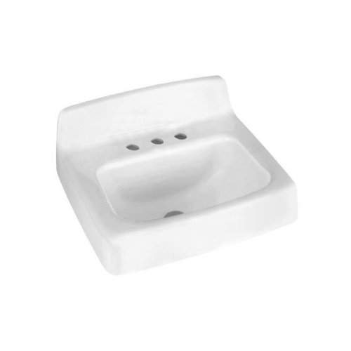 American Standard 4867.008.020 Regalyn Enameled Cast Iron Wall Hung Sink, 19 by 17-Inch, White by American Standard