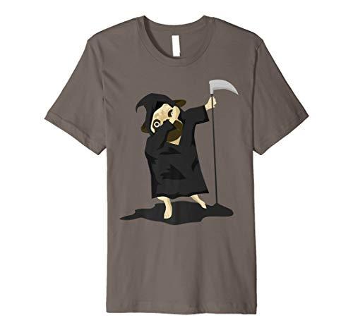 Halloween Dabbing Pug Grim Reaper Costume Funny Dogs T Shirt