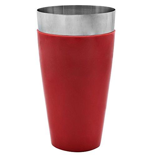 Mr. Tonic - 28 oz. Red Vinyl Coated Bar Shaker, Each