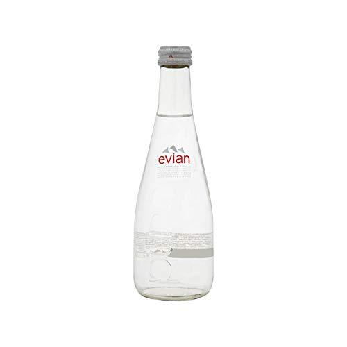 (Evian (Non-Sparkling) Natural Spring Water, 11.1 Fl Oz (20 Glass Bottles))