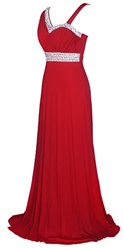 - Licoco Women Sleeveless Beaded Semi-Formal Long Maxi Evening Gown Wedding Dress (burgundy37,XXLarge)