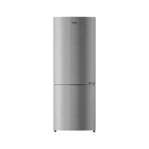 Haier 256 L 3 Star Inverter Frost-Free Double Door Refrigerator (HRB-2764CIS-E, Inox Steel, Bottom Freezer) 2021 July Frost-free Double door refrigerator with Twin Inverter Technology-ensures that the compressor & fan can run at different speeds Capacity: 256 litres suitable for a medium sized family. Energy rating: 3 star, Annual energy consumption: 180 per year