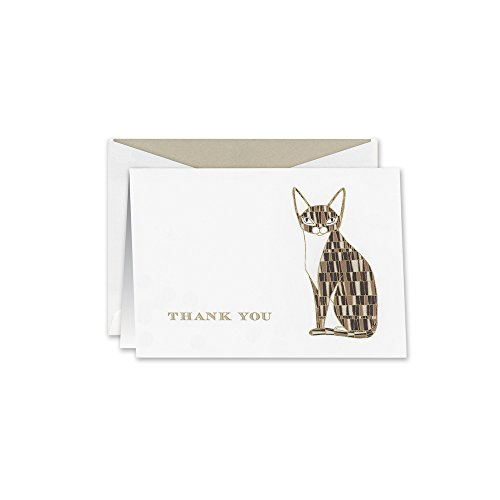 UPC 031619676355, William Arthur Engraved Siamese Thank You Note (B60693)