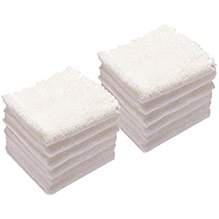 Kyapoo Baby Washcloths 12 Pack 12x12 Inches Microfiber Coral Fleece Extra Absorbent and Soft for Newborns, Infants and Toddlers-White