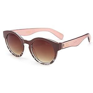 Laura Fairy Women's/ladies' Gradient Leopard Design Vintage Style Round Sunglasses (brown)