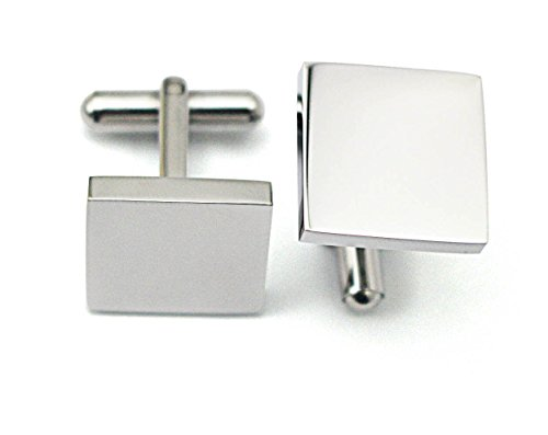 - COUYA 316L Polished Stainless Steel Square Men's Classic Shirt Cufflinks for Wedding Business