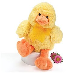 Plush Yellow Quacking Easter Duck 10