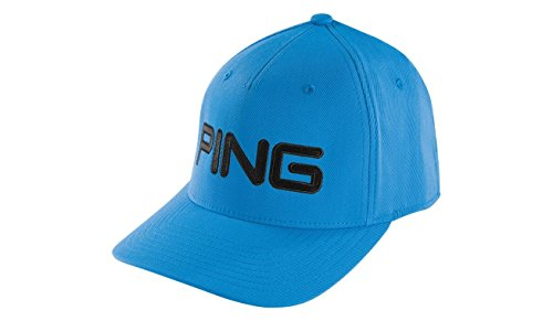 (NEW Ping Tour Structured Fitted S/M Bright Blue/Black Hat/Cap)