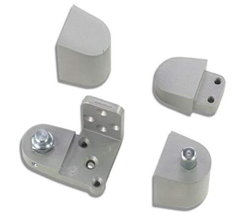 US Aluminum Style Storefront Door Pivot Hinge Set in Aluminum Finish - Choose Handing (Right Hand) by Pacific Doorware