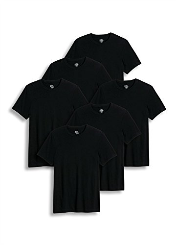 Large Black Classic T-shirt (Jockey Men's T-Shirts Big & Tall Classic Crew Neck - 6 Pack, black, LT)