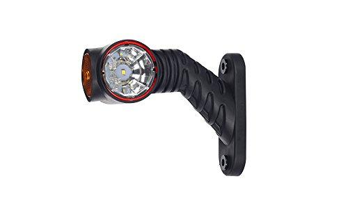 2x rojo blanco naranja recuperaci/ón corto tallo de lado marcador LED luces l/ámparas de esbozo cami/ón chasis
