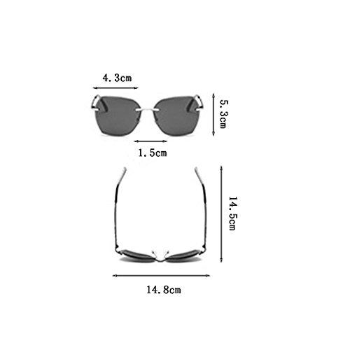al Gafas Resistencia Metal UV Sol Europa Ash de América Marina Polarized Frame Sra Película Sol Marco Moda sin y Color de Color Antirreflectante de Gafas UV400 tea de Anti Gafas Impacto frame Gold Silver 4HxSzEnn