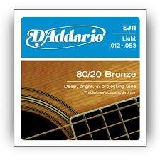 D'Addario EJ11x5  Acous Guit Strings, 80/20 Brnz Rnd Wnd, Li