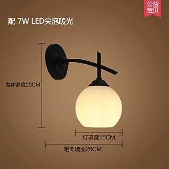 Daadi Lámpara de pared LED lámpara de mesilla lámpara de pared del ...
