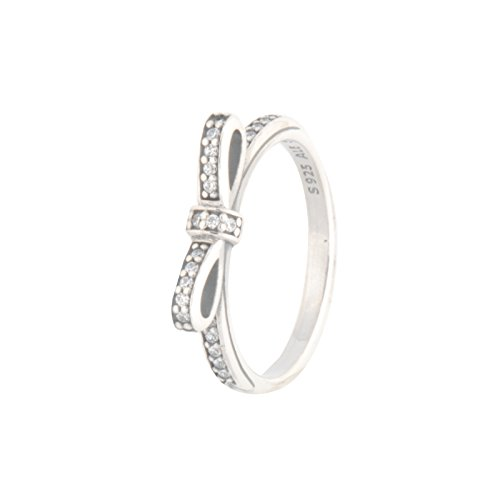 PANDORA Sparkling Bow Ring, Clear CZ 190906CZ-50 EU 5 US (Bow Pandora Ring)