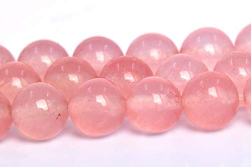 6MM Natural Faint Pink Jade Gemstone Beads Grade AA Round Loose Beads 15
