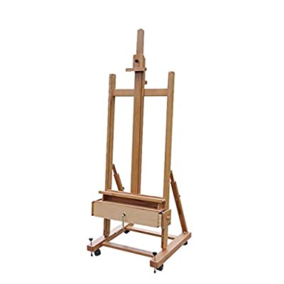 Easel Nationwel@ Elm, Single Rocker Hand Shake Large Oil Painting, Floor, Adjustable Front and Rear Angle Vertical, Display Stand
