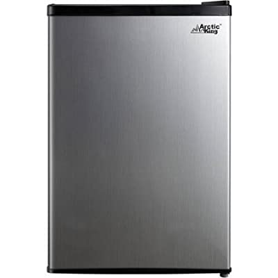 Arctic King 2.6 cu ft 1-Door Compact Refrigerator   Separate Chiller Compartment, Stainless Steel Look