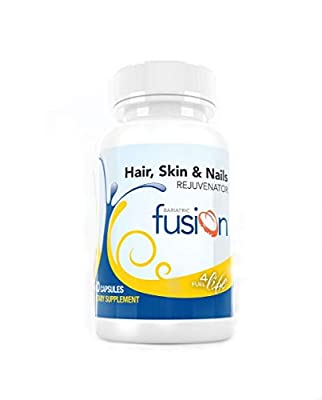 Bariatric Fusion ONE Per Day Hair, Skin & Nails REJUVENATOR for Bariatric Surgery Patients Including Gastric Bypass and Sleeve Gastrectomy, 60 Count