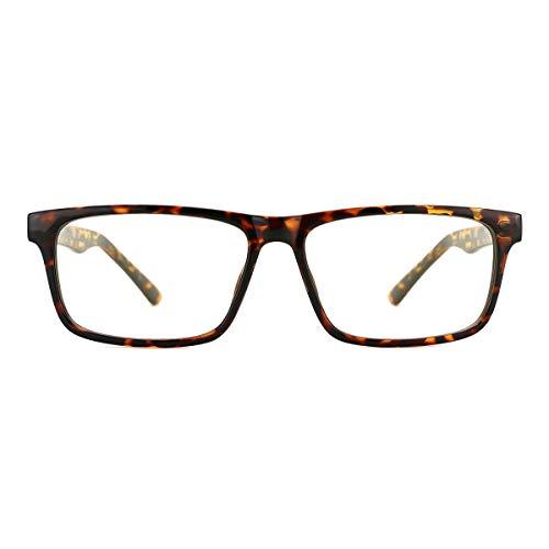 TIJN Anti UV Glare Blue Light Blocking Reading Glasses Square Eyeglasses for Men ()