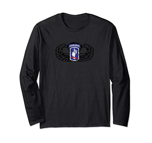 173rd Airborne Division Jumpwings Long Sleeve Shirt (173rd Division Airborne)