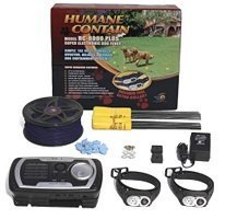 High Tech Pet - Humane Contain HC-8000Plus Super Electronic Dog Fence with Free Extra Collar