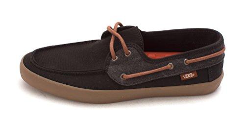 Vans Mens Chauffeur Closed Toe Boat Shoes, Black, Size 7.5