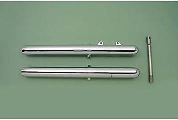 """V-Twin 24-6006 41mm Fork Slider Set Chrome 6/"""" Over Stock"""