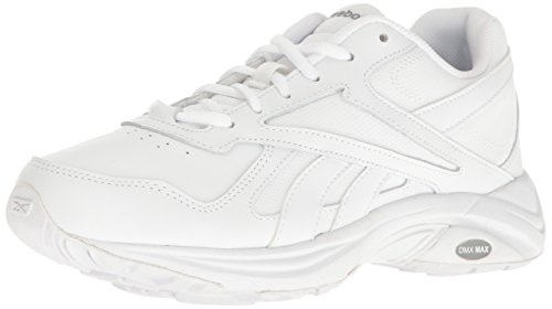Reebok Women's Ultra V Dmx Max Walking Shoe, White/Flat Grey, 7.5 M US