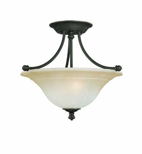 Thomas Lighting Sl8662-62 Harmony Two-Light Semi-Flushmount Fixture, Aged Bronze Review