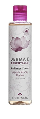 DERMA E Radiance Toner with Gycolic Acid and Rosehip Extract, 6 Fl Oz by DERMA-E