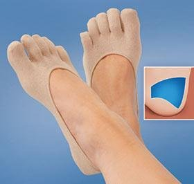 THERAPEUTIC INVISIBLE GEL TOE SOCKS (Feet Invisible Gel)
