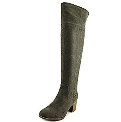 Indigo Womens Knee High Boots/Round Toe/Green/Gray Size 9 4p5x0seGTU