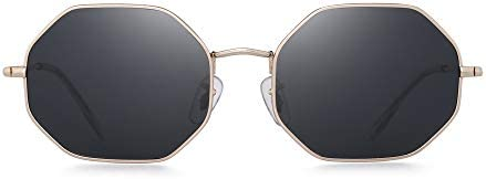 GLINDAR Square Polarized Sunglasses for Men Women Octagonal Lens UV400