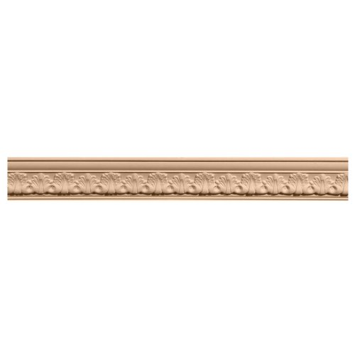 Ekena Millwork MLD04X05X06ACMA 4 1/2-Inch H x 5-Inch P x 6 3/4-Inch F x 96-Inch L Acanthus Leaf Carved Wood Crown Moulding, Maple (Maple Crown Moulding)