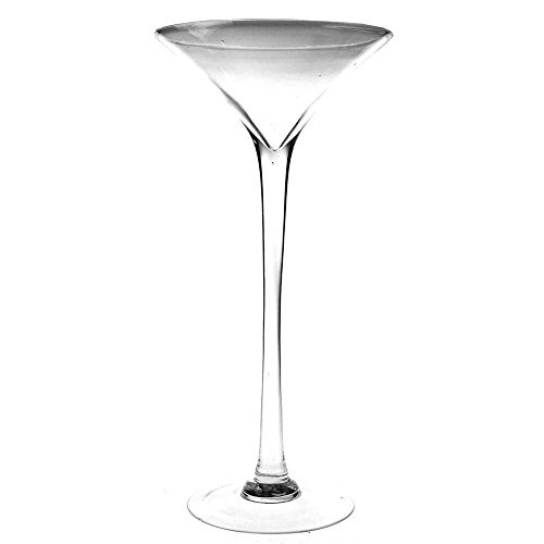 (Firefly Imports Clear Tall Martini Glass Vase, Height 23-Inch, 2-Pack CASE)