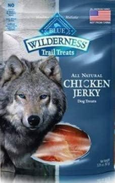 Blue Buffalo 6 Bags Wilderness Chicken Jerky Grain Free Dog Treats – Made in USA