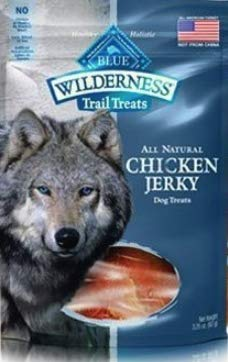 6 Bags - Blue Buffalo Wilderness Chicken Jerky Grain Free Dog Treats - Made in USA ()