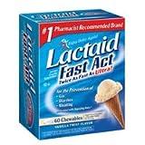 LACTAID Fast Act Chewables Vanilla Twist 60 ea
